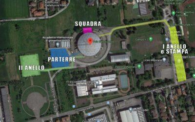 ACCESSO AL PALADESIO: INFO INGRESSI E PARCHEGGI SETTORE PER SETTORE